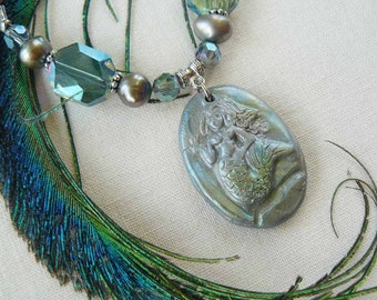 Sello Polymer Clay Mermaid Statement Necklace
