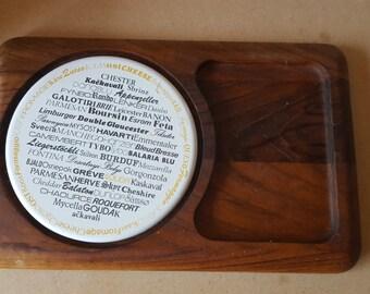 Wood/Ceramic Cheese Board Int'l