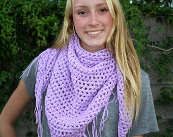 Shawl Lavender Sweet November  Inspired
