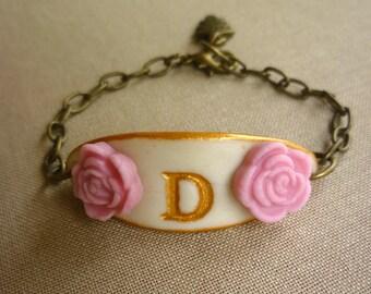 Custom Initial Girl Bracelet, Gift for 3,4,5,6,7,8,9,10 year old girl