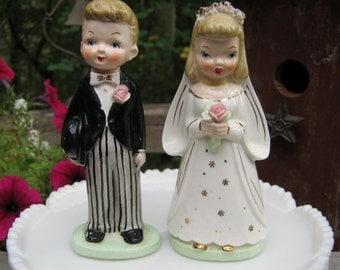 Bride and Groom -  Napco Japan - Wedding Cake Topper - Oak Hill Vintage