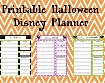 Instant Download Printable Halloween Disney Planner, Agenda, Itinerary