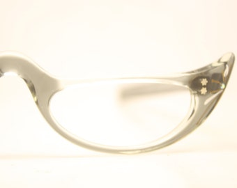 Vintage Eyewear Gray Cat Eye Reading Glasses Unused Cat Eye Eyeglasses