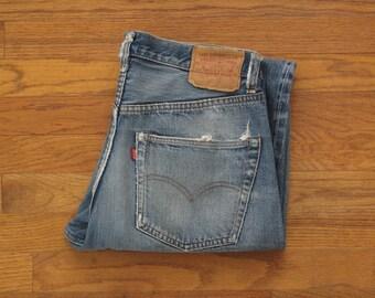 mens vintage Levis 501 single stitch redlines
