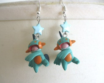 Pokémon Earrings - MARSHTOMP - Fairy Kei, Pastel Goth, 90's
