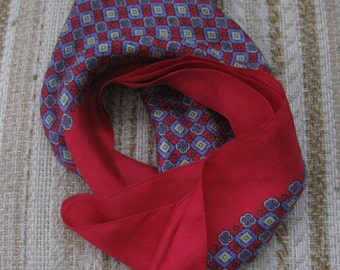 Red and Blue Liberty of London Scarf