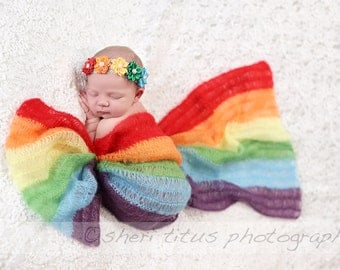 Newborn Rainbow Headband - Baby Rainbow Headband - Girl Rainbow Headband - Adult Rainbow Headband