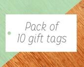 Pack of 10 Christmas Gift Tag, Christmas Tags set, Funny Christmas Tags, Holiday Gift Tags, Xmas Gift Tags