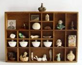 Wooden Display Box, Typeset Inspired Box, Letterpress Box, Wood Shadow Box, Printers Drawer, Wall Display Box, Rustic Decor,