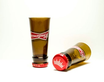 Budweiser Beer Bottle Shot Glasses Set of 2