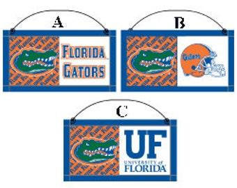 Florida Wooden Decor Sign, Football Decor, Sports Wreath Decorations