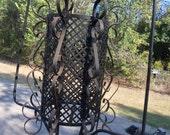 Rusty Metal Vintage Fixture, Lantern, Patio, Garden, Farmhouse,