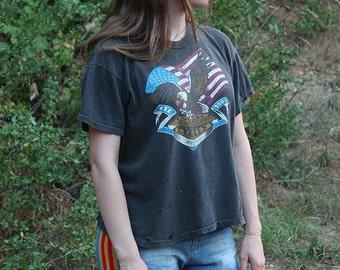 Worn In Harley Davidson T-Shirt // Medium
