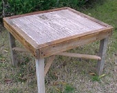 TABLE - 1 Only ~ Special Item! - OLD Distressed Wayne's Board, Small Side Table ~ Country Primitive ~ FRee SHiPPiNG! - C Photos & Details