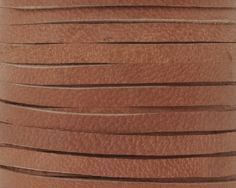 Leather Lace-3mm Deerskin Lace-Saddle Tan-2 Yards