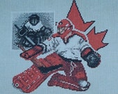 Hockey Goalie - Lynne Nicoletti - Cross Stitch Chart with Colour Variations