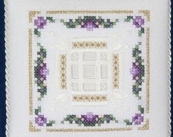 Square Filet Filling & Tulip - Level Five - Beyond Cross Stitch Series - A Victoria Sampler - Kit BCS #5-7