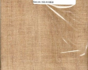 GT 242- Linen, 28 Count,Tea,60 X 35 inches,152 X 89cm, Cut Fabric Collection