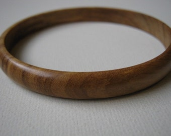 Skinny Olive Wood Bangle Bracelets