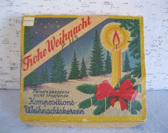 Holiday Candles / Frohe Weihnacht / Christmas Candles / Vintage Candles