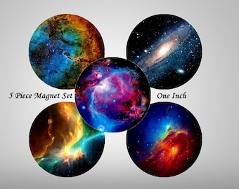 Space Magnets, Hubble Magnets, Hubble Pins, Galaxy Magnets, Universe Magnets, Hubble Images, Deep Space Magnets, Space Pins, Set G