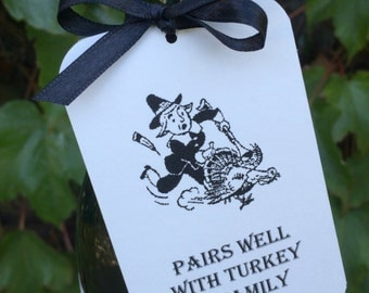 Thanksgiving Wine or Gift Tags - Set of 3