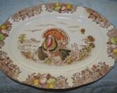 Vintage Turkey Platter Fred Roberts Co. SF Japan, Transfer Ware