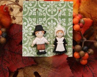 pilgrim earrings thanksgiving earrings fall earrings autumn earrings jewelry for fall gifts under 10 gifts under 25 fall color earrings