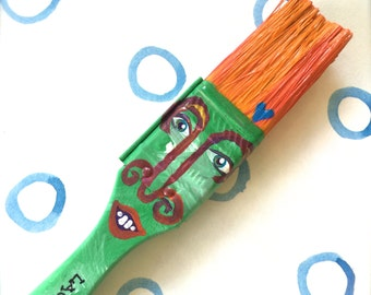 Paintbrush People Magnet Green