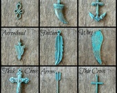 Patina Charms Add-On, Pendant Add-On, Rustic Charms, Turquoise Patina, Verdigris Patina, Antique Charms, Bohemian Jewelry