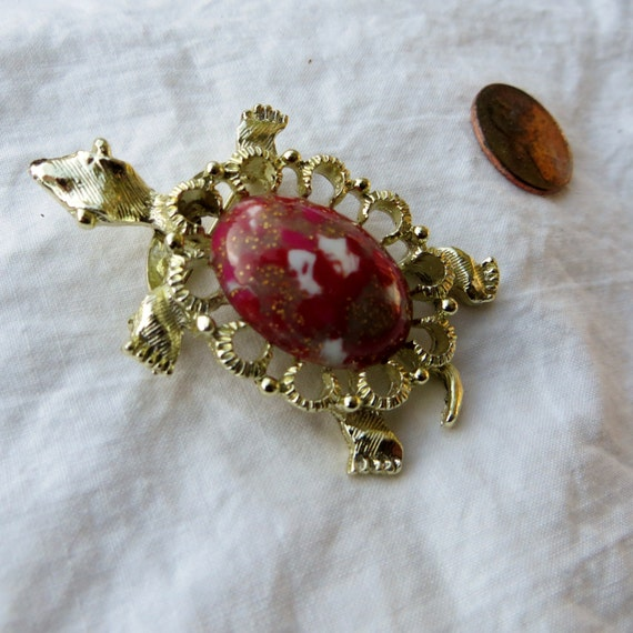 big turtle brooch by gerrys vintage jewelry gold and and