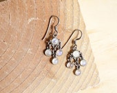 Chandelier Earrings • Moonstone Earrings • Silver Dangle Earrings • 925 Sterling Silver Earrings • Dangle Earrings Silver • 925 Silver |E227