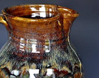 Stoneware Ceramic Pitcher Hand Made Pottery Jug A