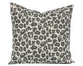 Decorative Throw Pillow Covers, Animal Print Print Pillow, Leopard Spot, Leopard Pillow, Linen Pillow, Taupe Pillow Cover Throw Pillow Cover