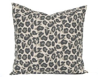 Leopard Pillow - Euro Sham Throw Pillow Covers, Animal Print Print Pillow, Leopard Spot, Sofa Pillows - Throw Pillow Cover - Animal Bedding