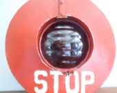 Vintage Railroad  Wig Wag Signal Stop Light / Crossing Signal Light