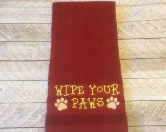 Dog Paw Towel- Wipe Your Paws
