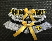 Iowa Hawkeyes Lace Wedding Garter any customize size, color or style.