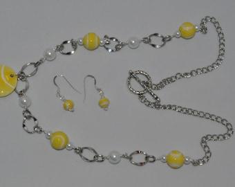 Tennis Long necklace set