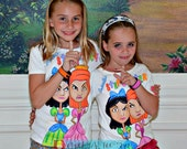 Anastasia and Drizella Disney Cinderella step sisters hand painted shirt 12 18 24 2 3 4 5 6 7 8 9 10 BOUTIQUE PAGEANT custom