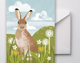 Mountain Hare Greetings Card