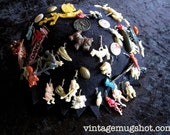 1930'S-1940's  Vintage Felt Beanie Hat  With Over 50 Charms Pins Footballs Heinz Pickle Pluto Monkey  Devil and many more