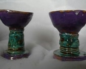 Pair of Pottery Goblets