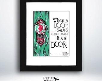 Printable quote, door quotes, door knob prints, typography, printable inspirational quote, motivational wall art decor, motivational print