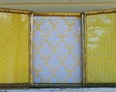 1 Triple Fold Vintage Gold Metal Frame, Wedding Decor, Nursery Decor,Shabby Chic