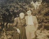 Vintage French Photograph - Young Man with an Old Woman