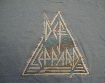 Vintage 80's Def Leppard iron on concert tour 1/2 Half T Shirt S