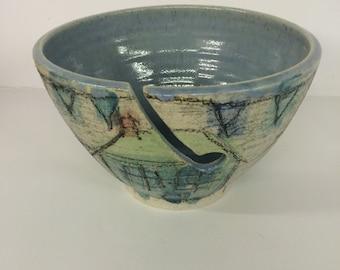 Large sea houses yarn bowl