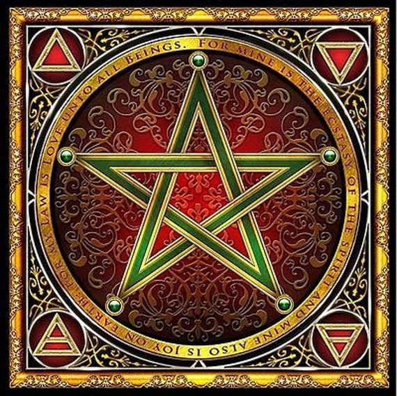 Wiccan Pentacle Cloth