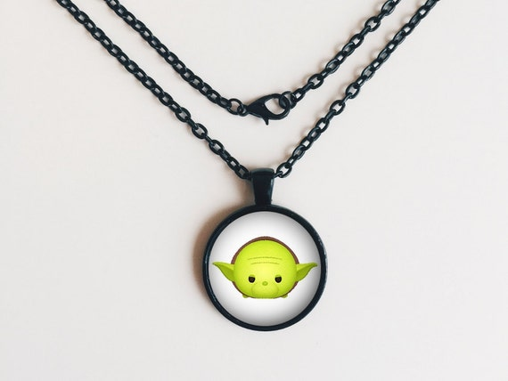 Yoda from Star Wars Tsum Tsum Necklace or Keychain